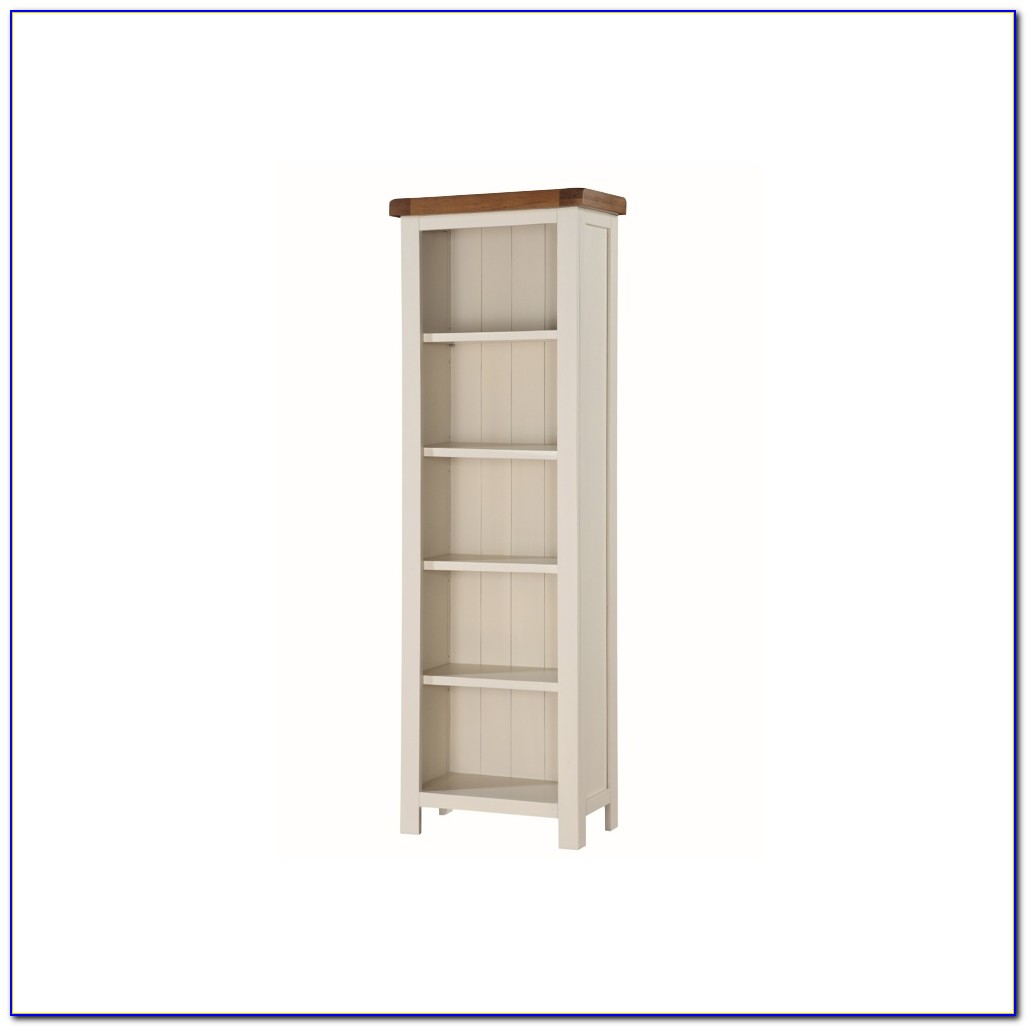 Tall Slim Bookcase Oak