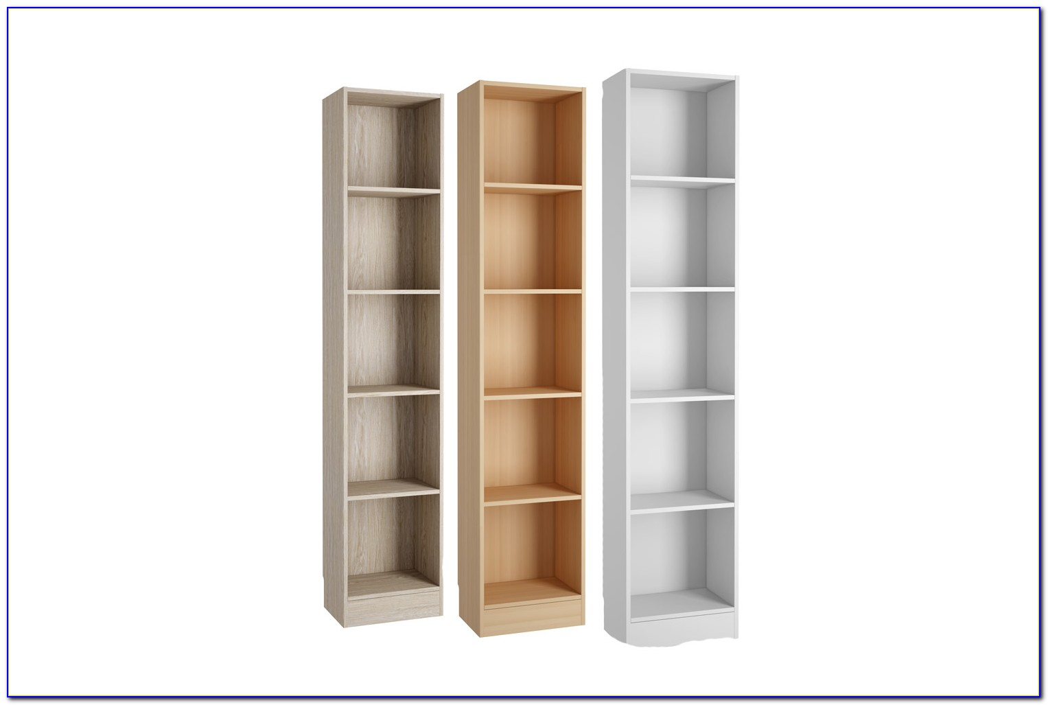 Tall Slim Bookcase White