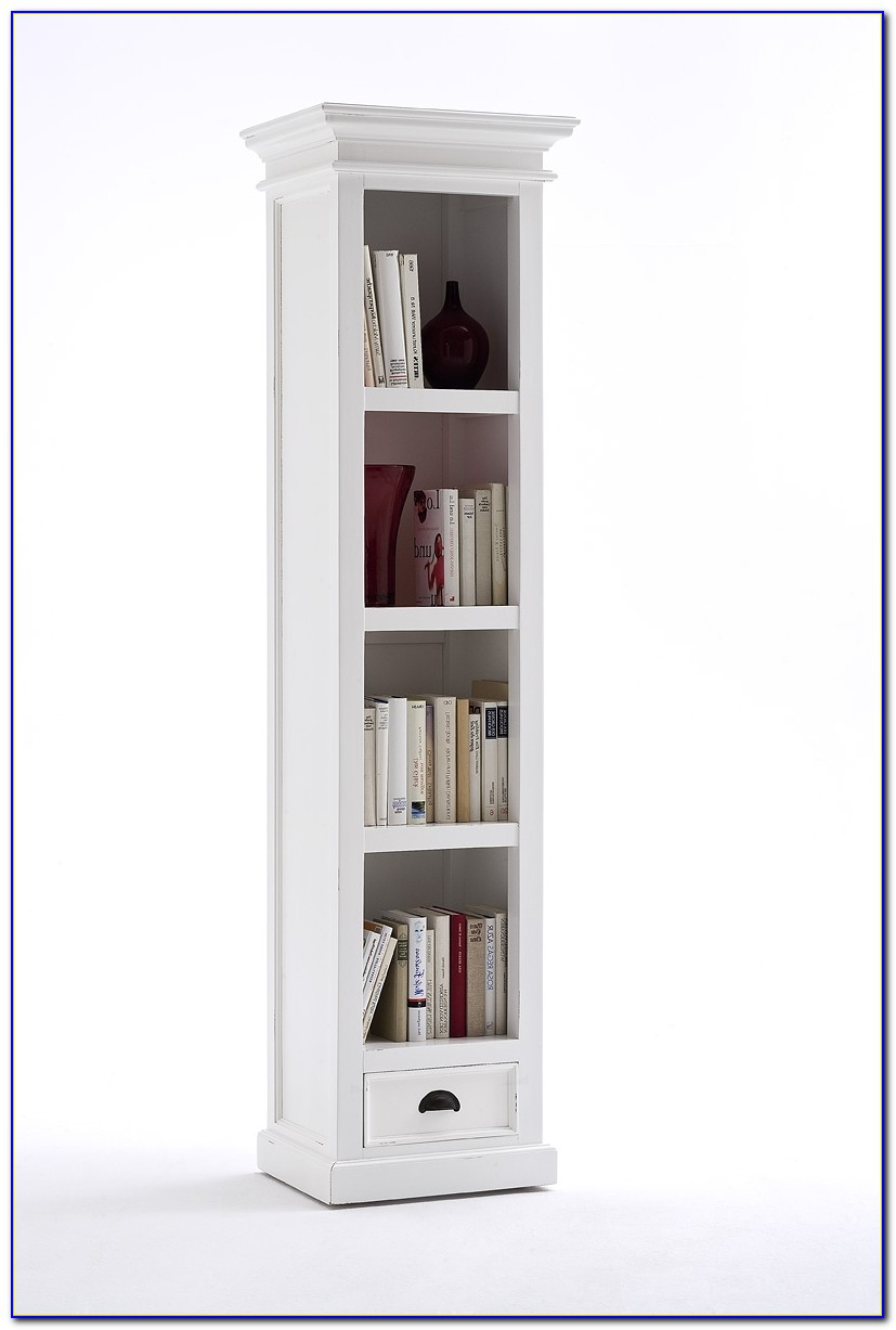 Tall Slim Pine Bookcase