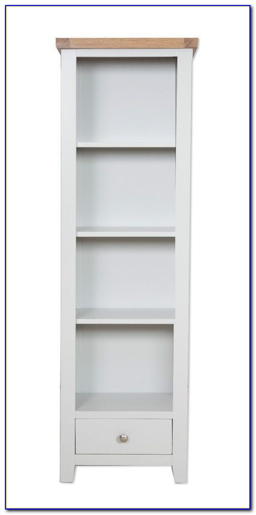 Tall Slim Wooden Bookcase