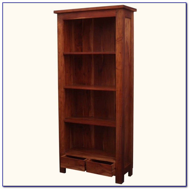 Tall Solid Wood Bookcase