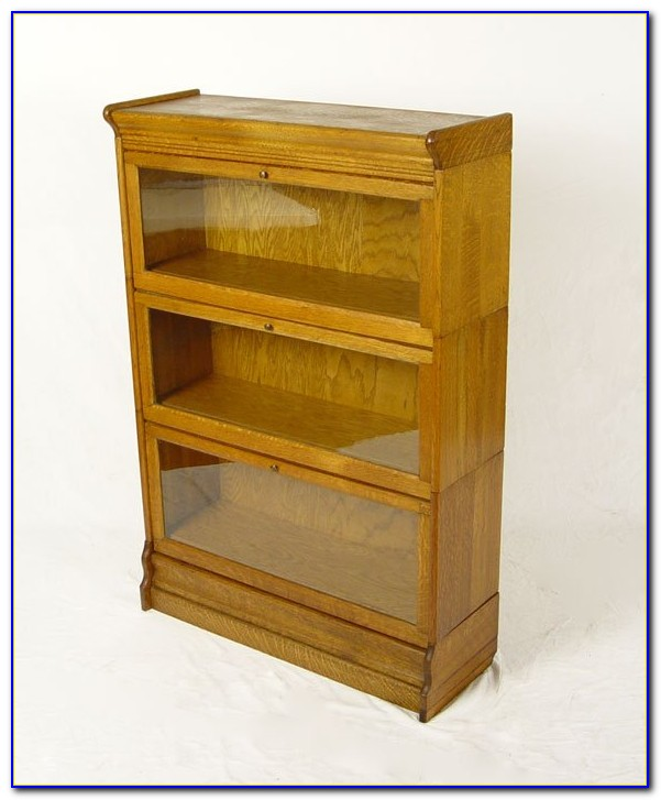 Tiger Oak Barrister Bookcase