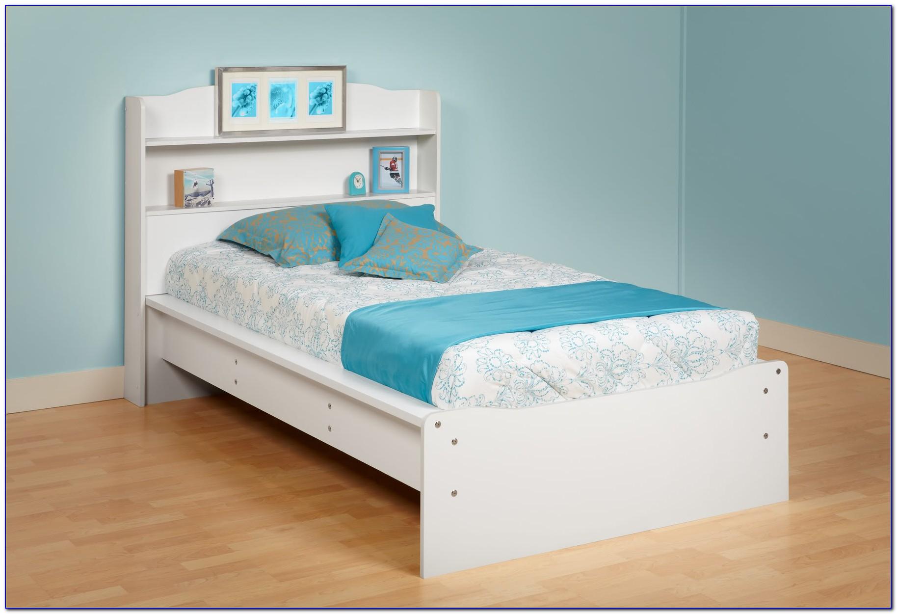 Twin Bed Bookcase Headboard Solid Wood