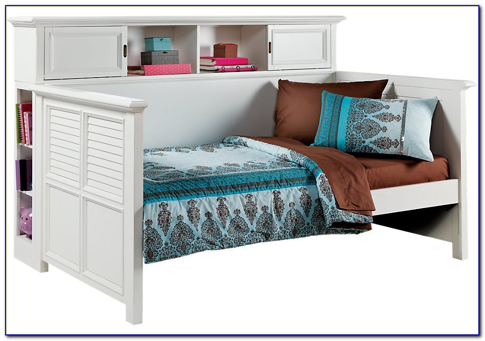 Twin Bookcase Daybed With Underbed Trundle