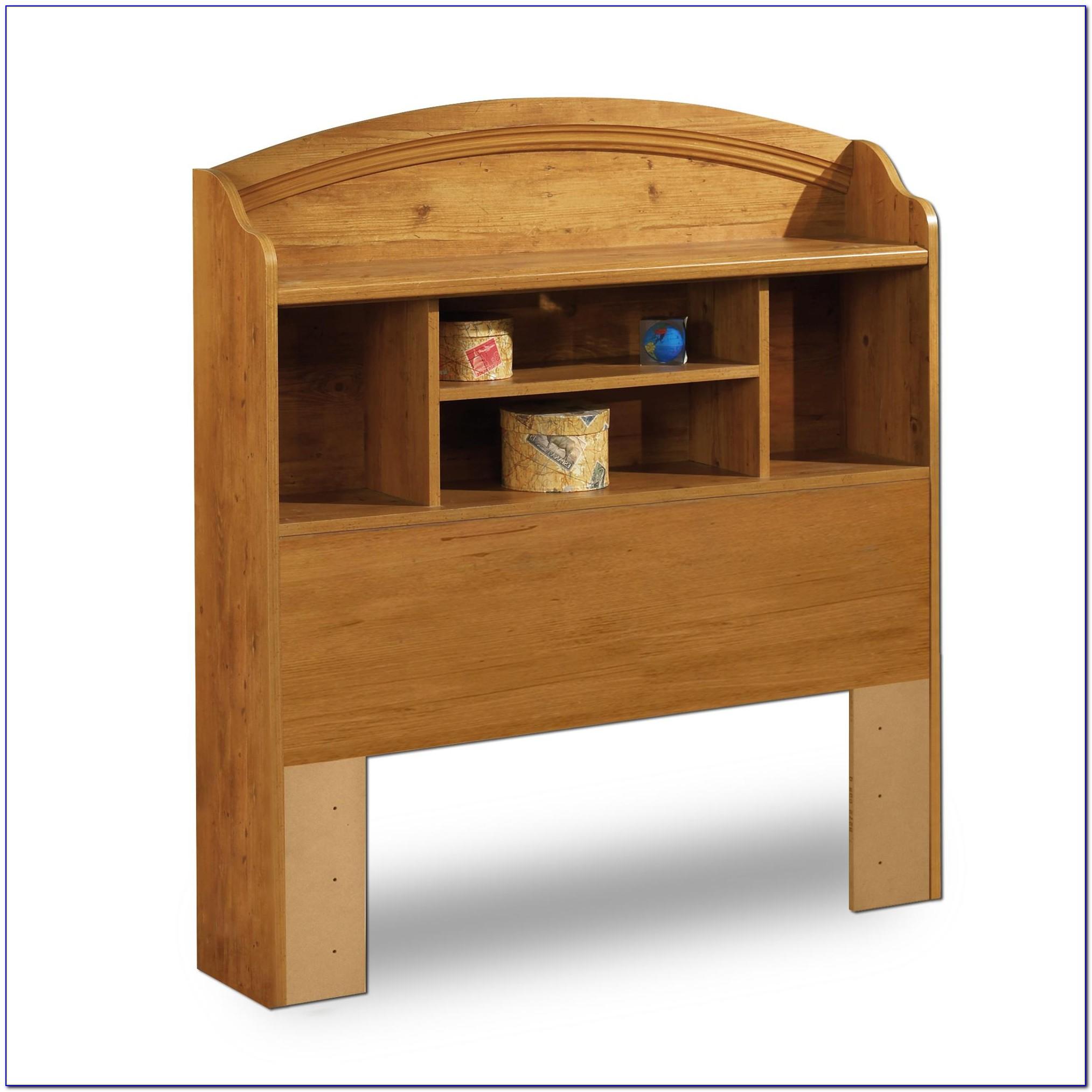 Twin Bookcase Headboard Solid Wood