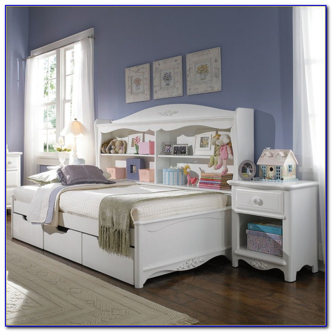 Twin Daybed With Trundle And Bookcase