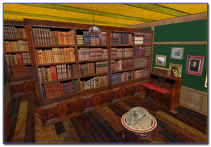 Two Sided Corner Bookcase