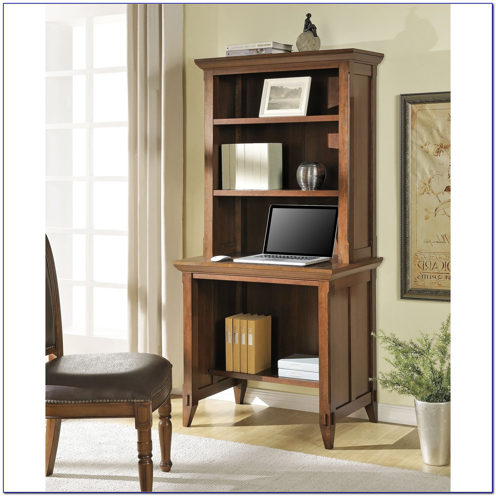 Wall Bookcase With Computer Desk