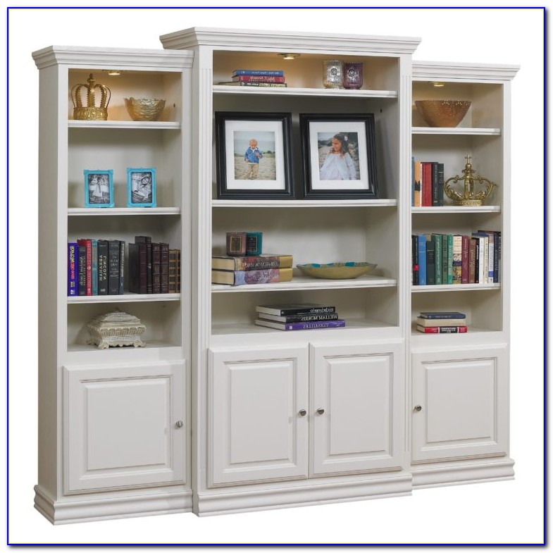 Wall Bookcase With Doors