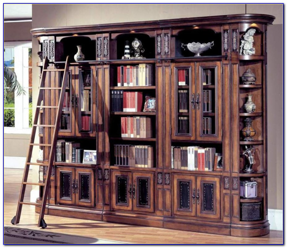 Wall Bookcase With Glass Door