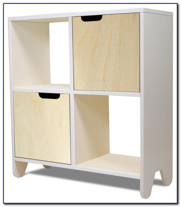 White Bookcase Toy Storage