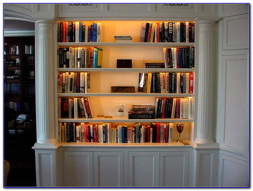 White Bookcase With Lights
