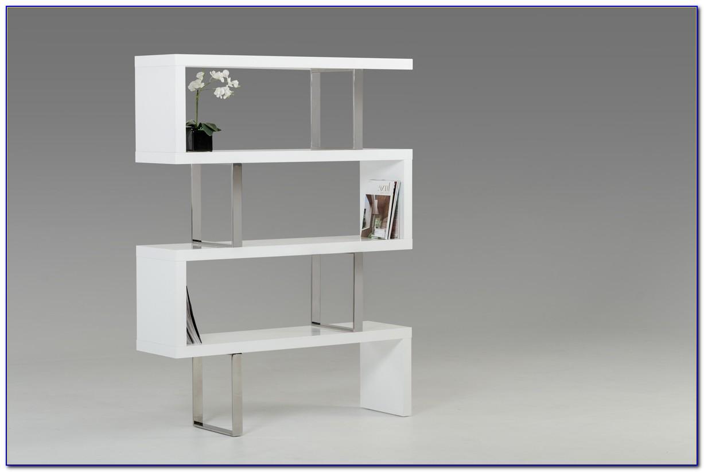 White Contemporary Bookshelves