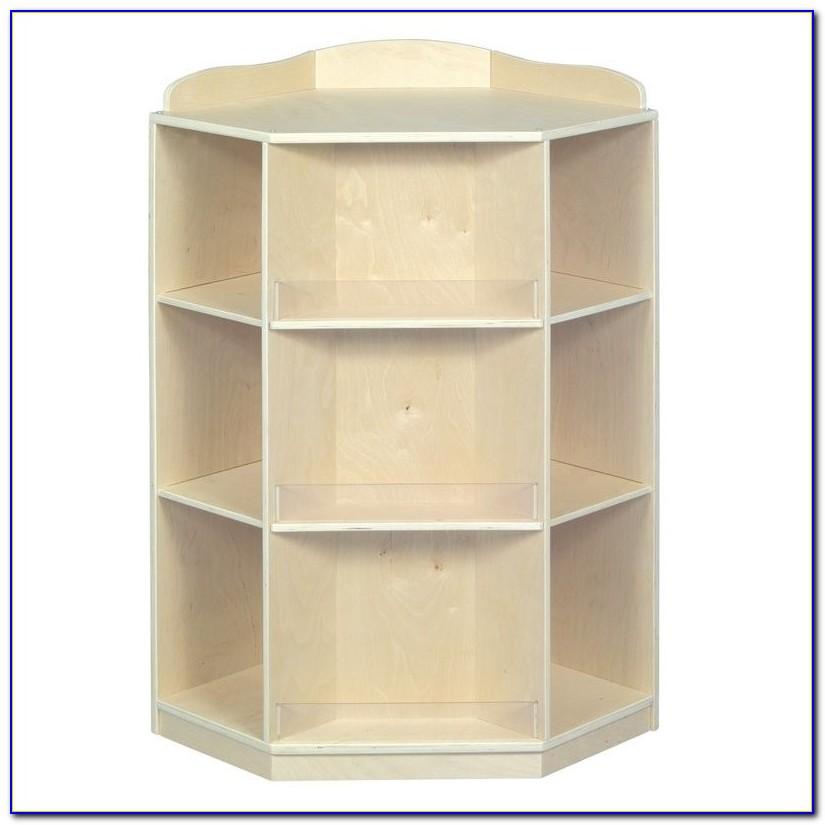 White Corner Bookcase Cabinet