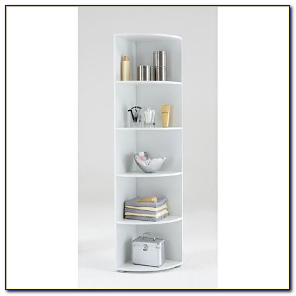 White Corner Bookcase Unit