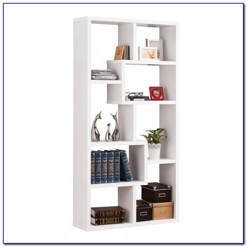 White Open Back Bookshelf