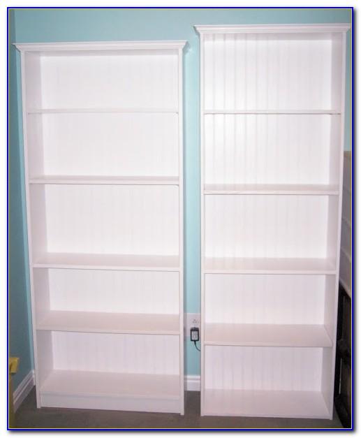 White Particle Board Bookcase