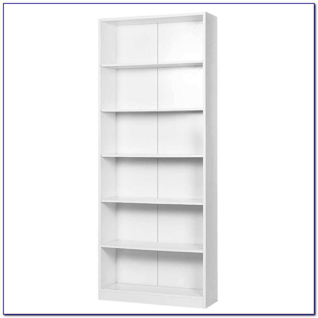 White Six Shelf Bookcase