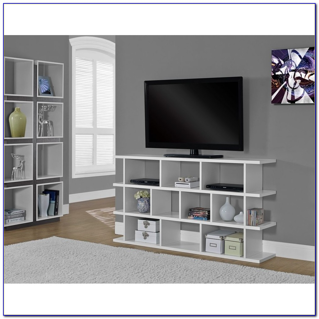 White Tv Stand And Bookcase