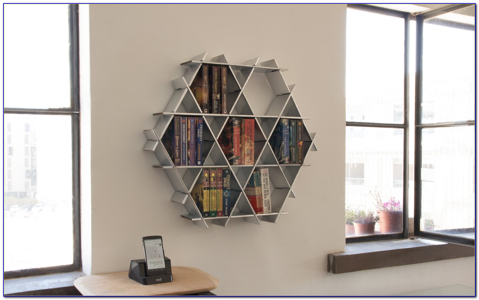 White Wall Hanging Bookcase