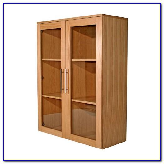 Wide Bookshelf With Doors