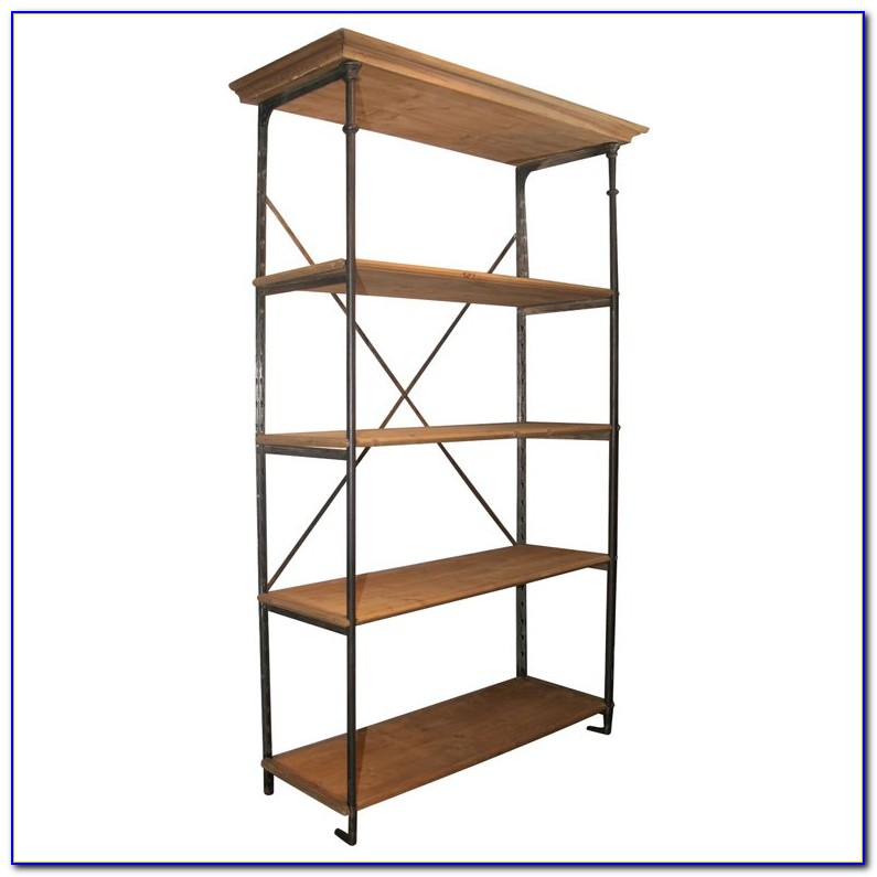Wood And Metal Bookcases