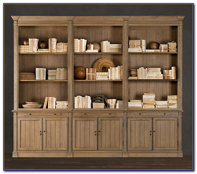 Wood Bookcase Wall Units