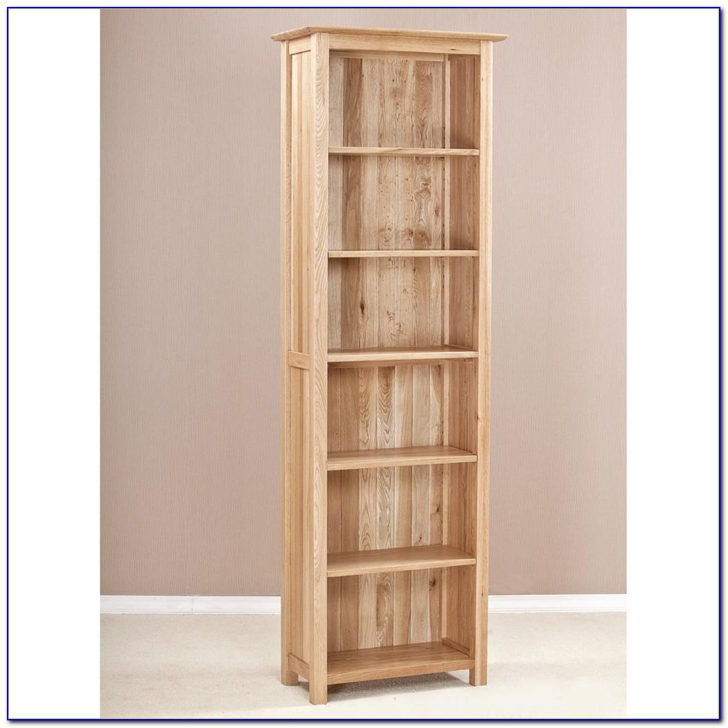 Wood Narrow Bookshelf