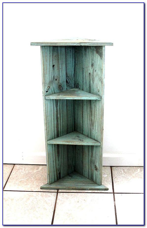 Wooden Corner Bookshelves