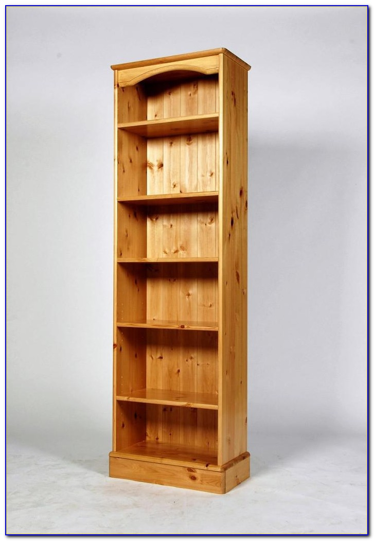 Agatha Tall Narrow Bookcase Oak