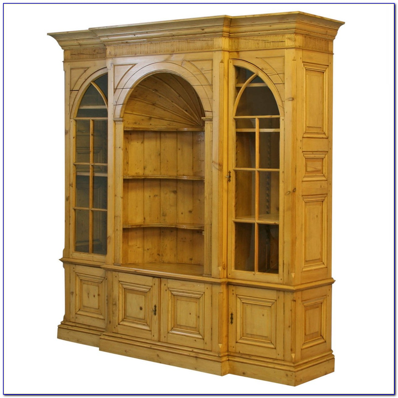 Antique Bookcase Display Cabinet