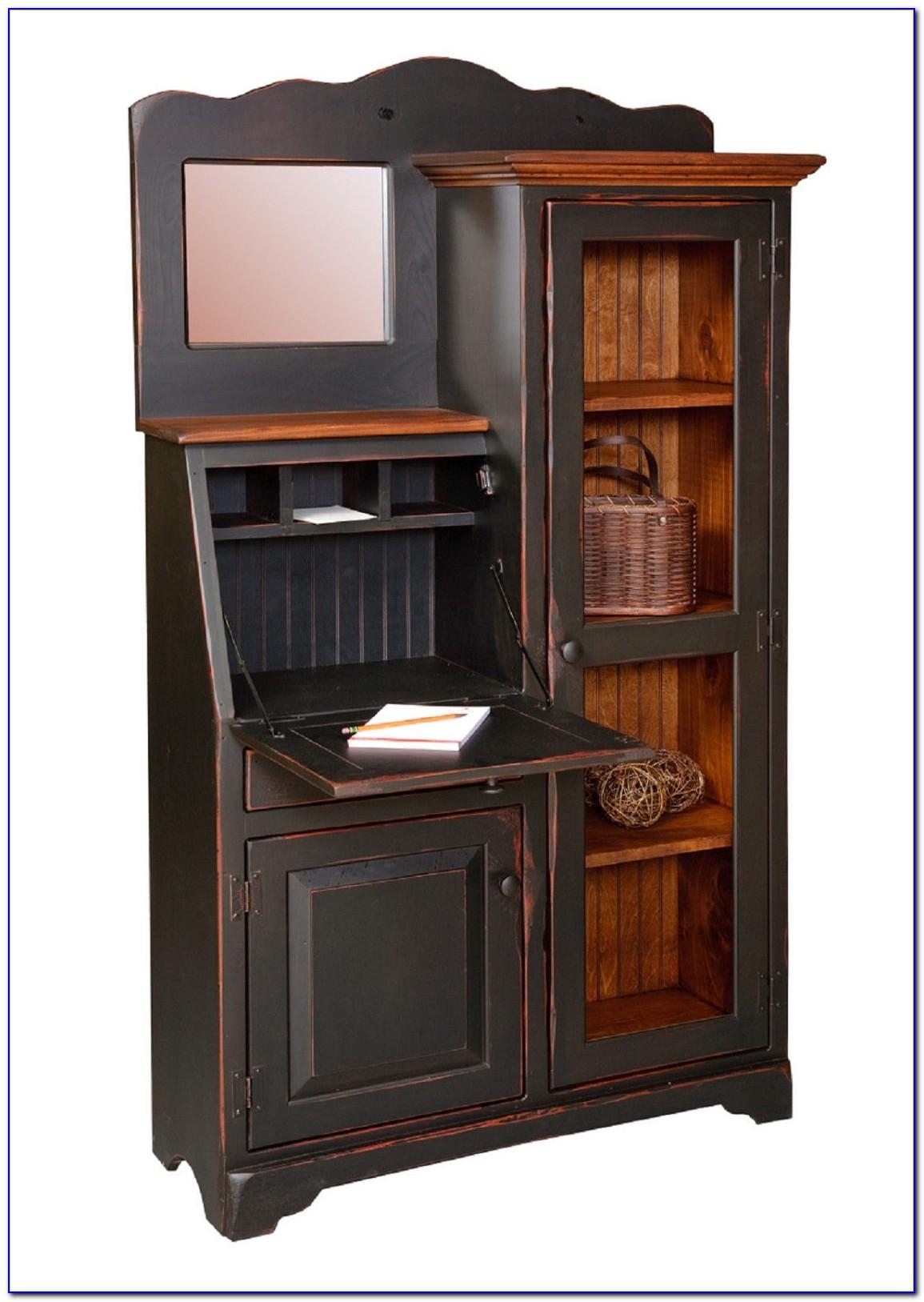 Antique Bookcase Secretary Desk