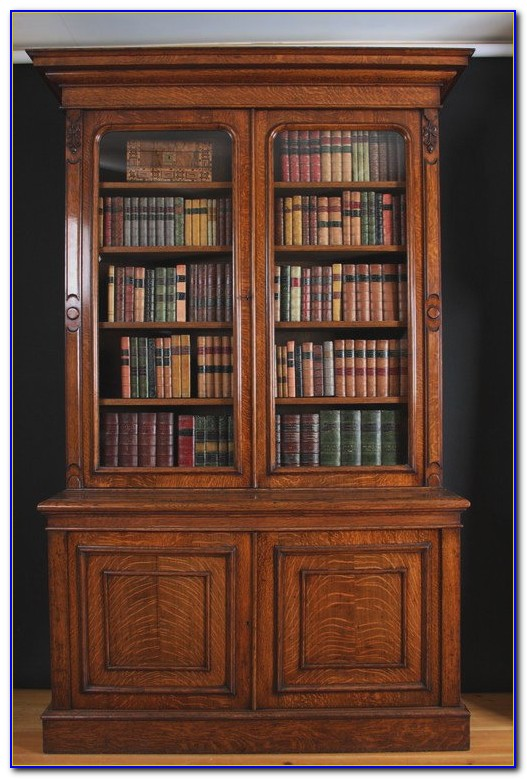 Antique Oak Barrister Bookcases