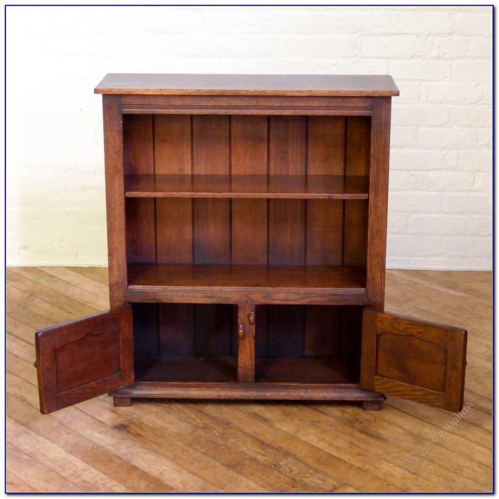 Antique Oak Bookcase Desk