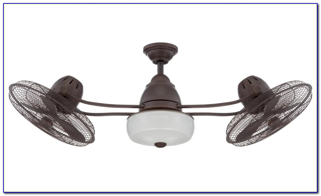 Bentley Ii Outdoor Natural Iron Oscillating Ceiling Fan With Wall Control
