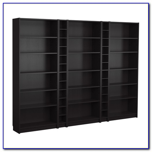Black Billy Bookcase With Doors
