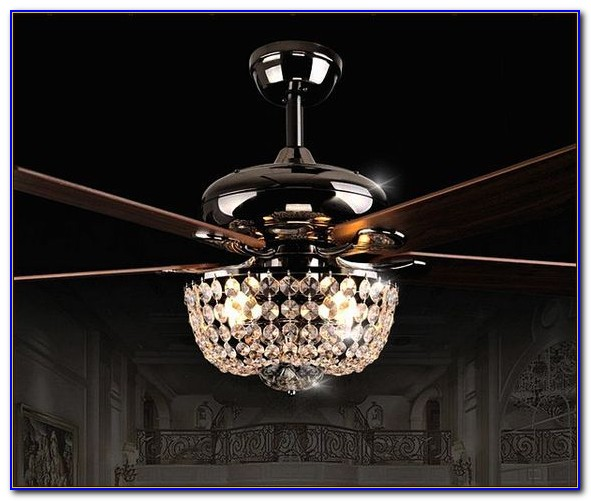 Black Ceiling Fan With Crystals