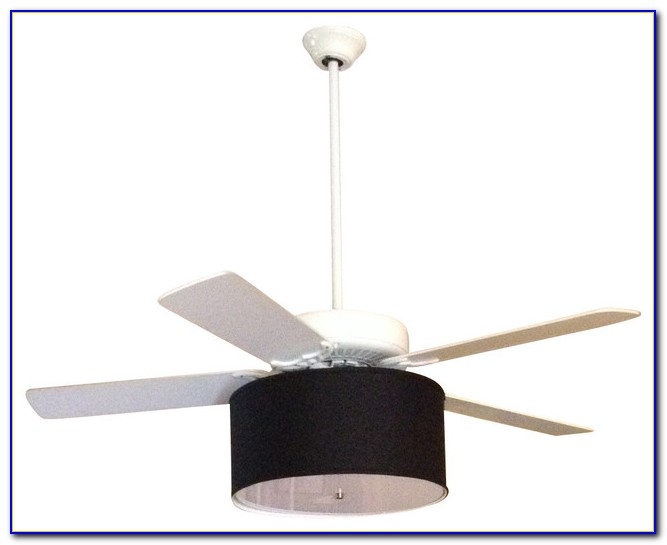 Black Ceiling Fan With Drum Shade