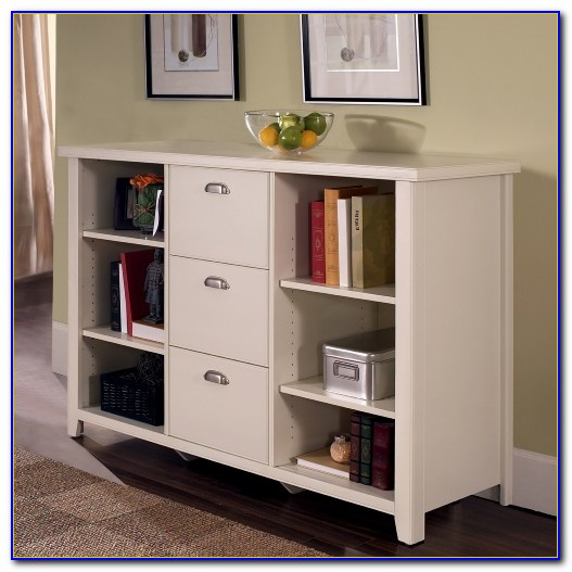 Bookcase And Media Cabinet