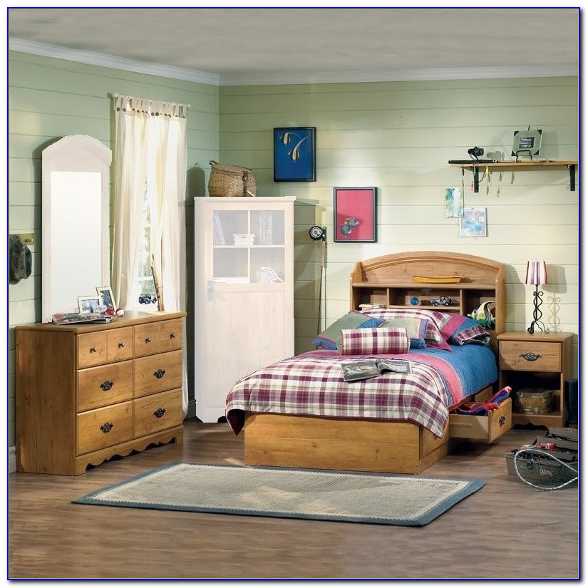 Bookcase Bed Set