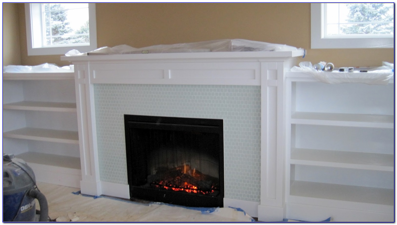 Bookcase Fireplace Surround