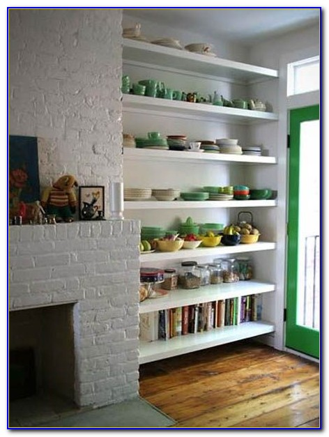 Bookcase For Cookbooks In Kitchen
