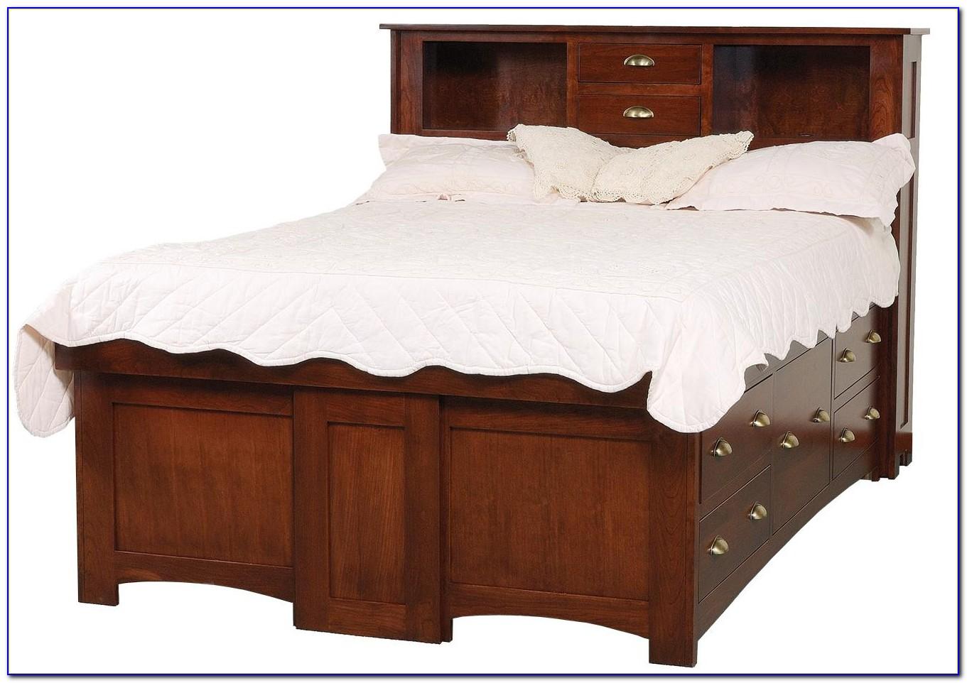 Bookcase Headboard Bed Frame