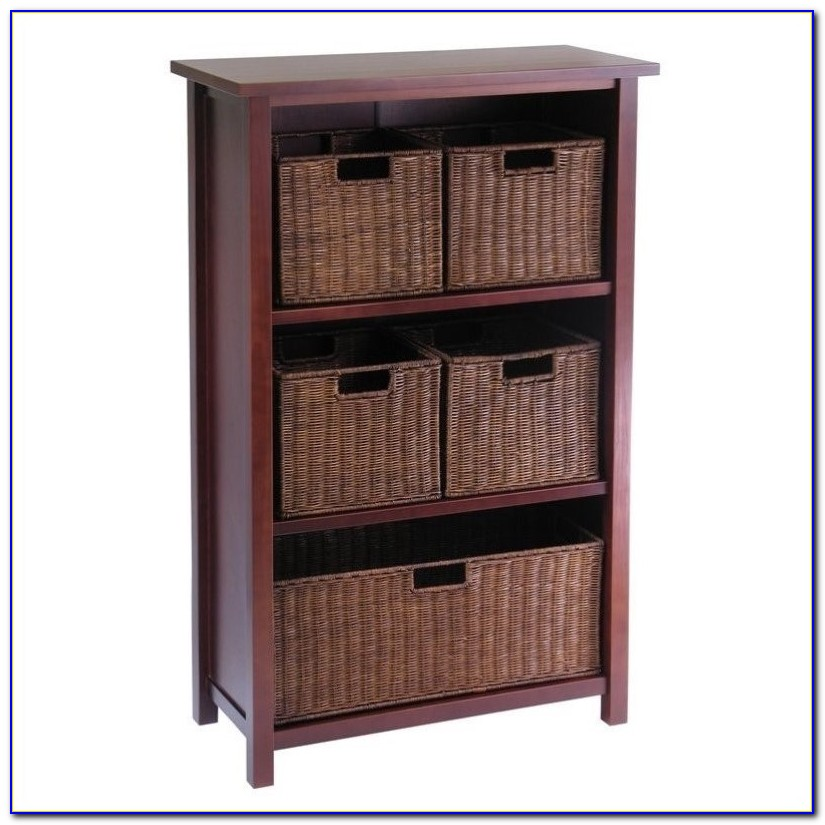 Bookcase With Basket Storage