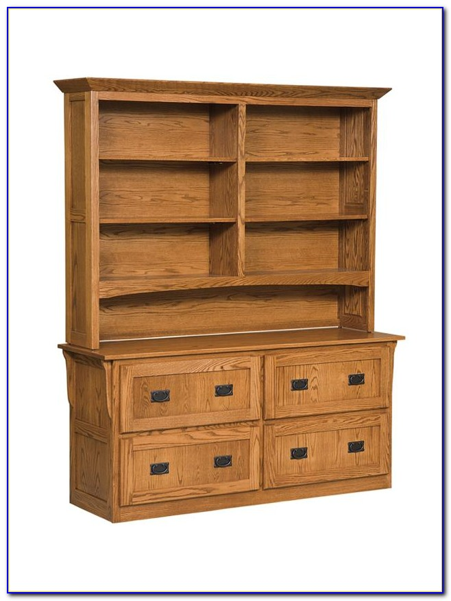 Bookcase With Cupboard Oak