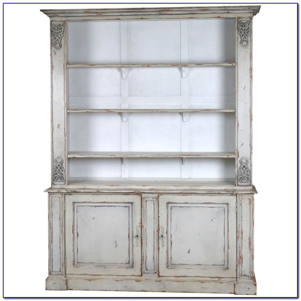 Bookcase With Cupboard White