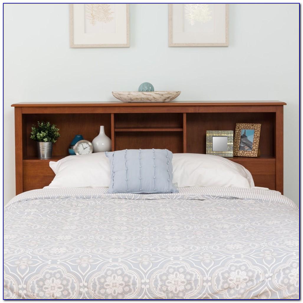 Bookshelf Headboard Bed Frame