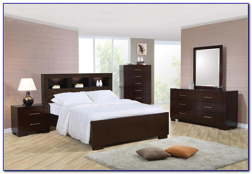 Bookshelf Headboard Bedroom Sets