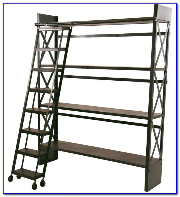 Bookshelves Rolling Ladder