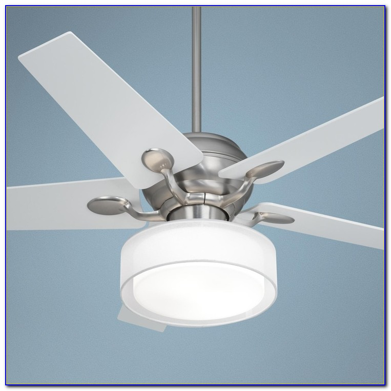 Bronze Ceiling Fan With Drum Shade